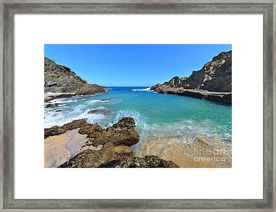 Eternity Beach Splash Framed Print by Aloha Art