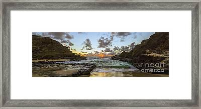 Eternity Beach Sunrise 3 To 1 Ratio Framed Print by Aloha Art