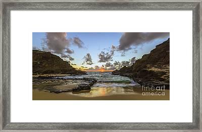 Eternity Beach Sunrise Framed Print by Aloha Art