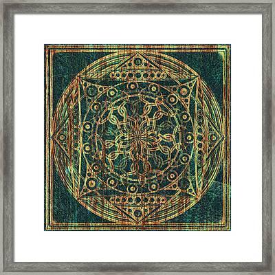 Eternity Mandala Weathered Framed Print