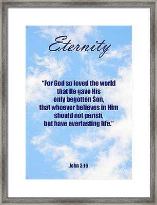 Eternity Poster John Three Sixteen Framed Print