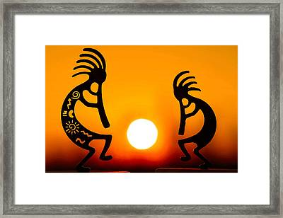 Eternity's Sunrise Framed Print by Mitch Cat