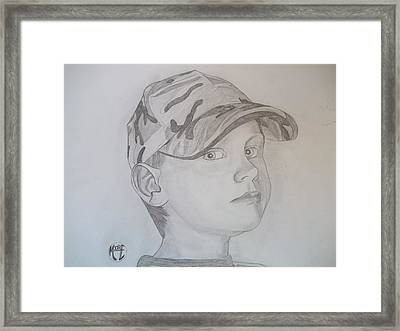 Ethan Age 6 Framed Print by Justin Moore