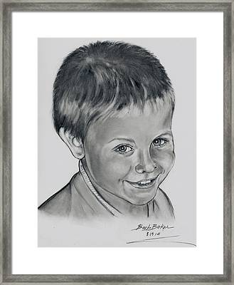 Ethan Framed Print by Barb Baker