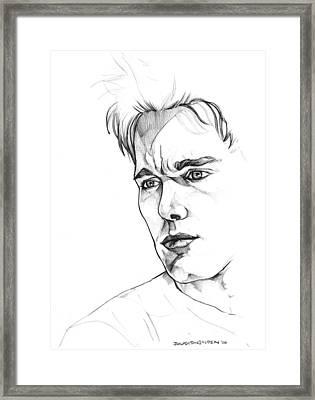 Ethan Hawke Framed Print by John Ashton Golden