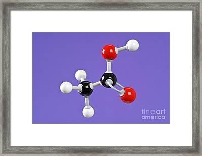Ethanoic Acid Framed Print by Martyn F. Chillmaid