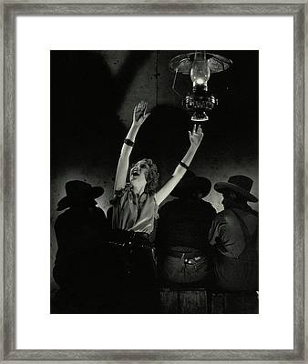 Ethel Merman In The Play Girl Crazy Framed Print by Edward Steichen
