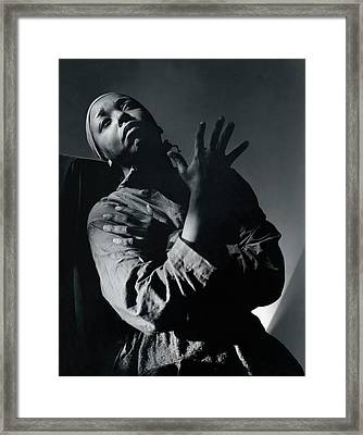 Ethel Waters As Hagar In Mambas Daughters Framed Print by Horst P. Horst