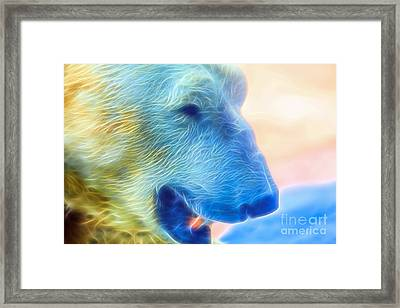 Ethereal Bear Framed Print