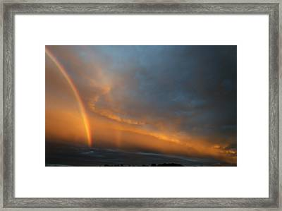 Ethereal Clouds And Rainbow Framed Print by Greg Reed