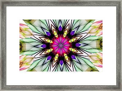 Ethereal Colors Mandala Framed Print