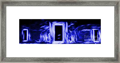 Ethereal Doorways Blue Framed Print