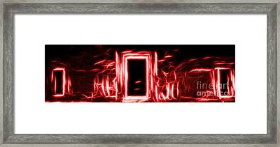 Ethereal Doorways Red Framed Print