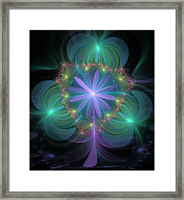 Ethereal Flower On Vacation Framed Print