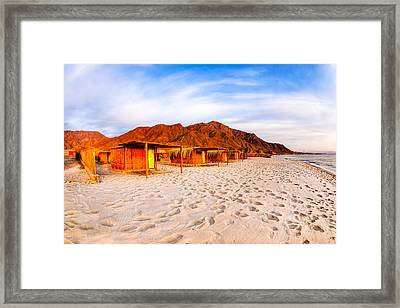 Ethereal Morning On A Red Sea Beach Framed Print