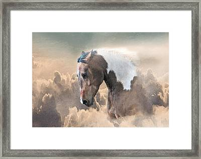 Ethereal Paint Horse Power Framed Print by Renee Forth-Fukumoto