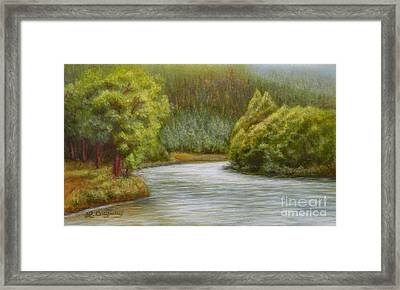 Ethereal River Framed Print
