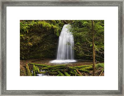Ethereal Shadow Falls Framed Print by Mark Kiver