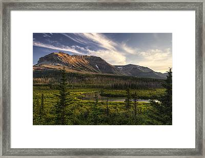 Ethereal Sofa Mountain Framed Print by Mark Kiver