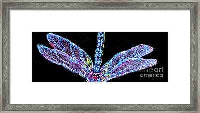 Ethereal Wings Of Blue Framed Print