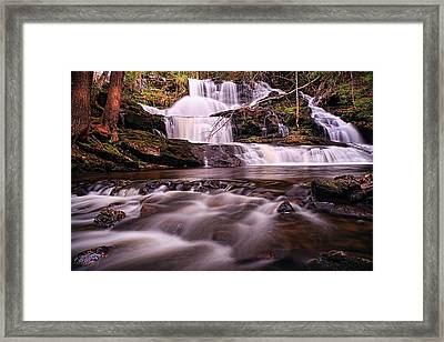 Ethereal Flow Garwin Falls Milford Nh Framed Print by Jeff Sinon