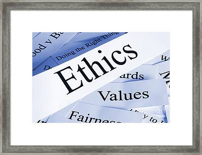 Ethics Framed Print by Colin and Linda McKie