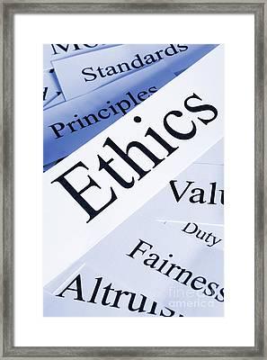 Ethics Concept Framed Print