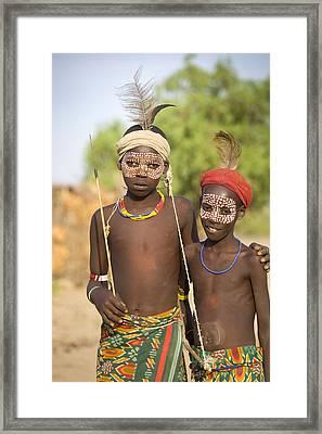 Ethiopia Boys Framed Print