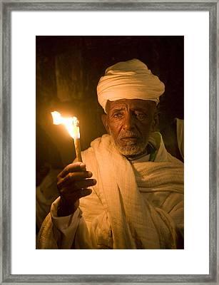 Ethiopian Holy Fire Ceremony Framed Print by Kobby Dagan