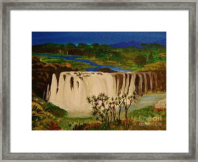 Ethiopian Nile Waterfall Framed Print