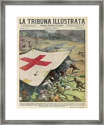 Ethiopians Conceal Men And  Munitions Framed Print by Mary Evans Picture Library