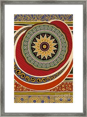 Ethnic Elegance Framed Print