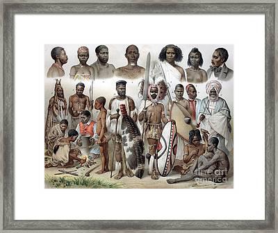 Ethnic Groups Of Africa, 1880s Framed Print by Bildagentur-online