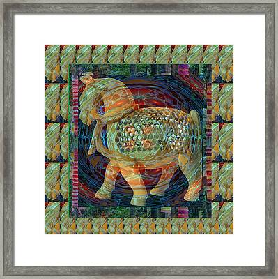 Ethnic Woodcraft Horse Decorated Toy Game Gems Jewels Special Occasion Background Designs  And Color Framed Print