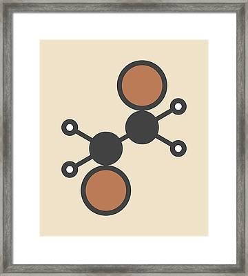 Ethylene Dibromide Molecule Framed Print by Molekuul