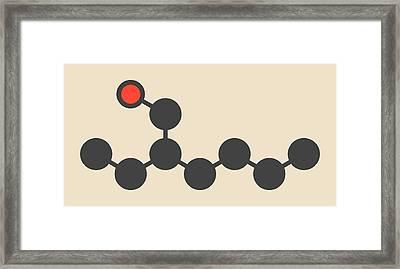Ethylhexanol Molecule Framed Print by Molekuul