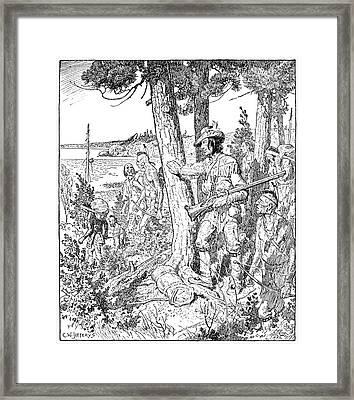 Etienne Brul� (c1592-1633) Framed Print by Granger