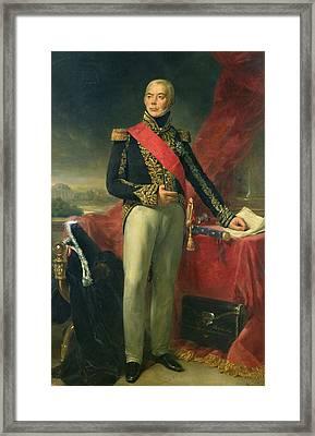 Etienne-jacques-joseph-alexandre Macdonald 1765-1840 Duc De Tarente And Marshal Of France, 1837 Oil Framed Print by Jean Sebastien Rouillard