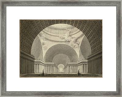 Etienne-louis Boullée, Perspective View Of The Interior Framed Print