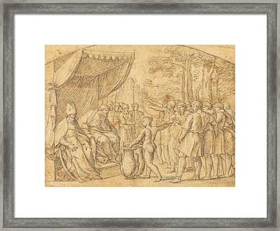Etienne Parrocel French, 1696 - 1775, The Drawing Of Lots Framed Print by Quint Lox