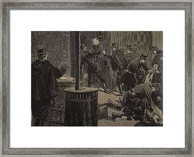 Etievant, The Anarchist Shoots Framed Print
