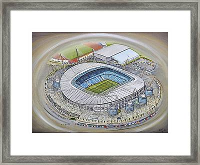 Etihad Stadium - Manchester City Framed Print by D J Rogers