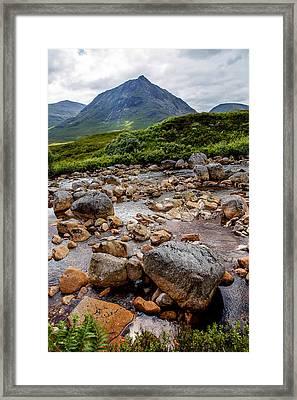 Etive Mor Stream Scotland Framed Print by Niall McWilliam