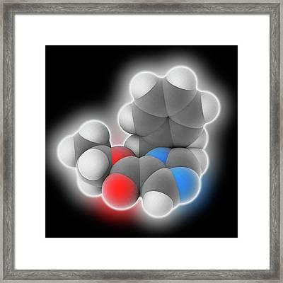 Etomidate Drug Molecule Framed Print