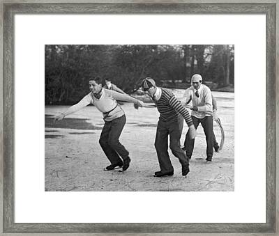Eton College Holiday On Ice Framed Print by Underwood Archives