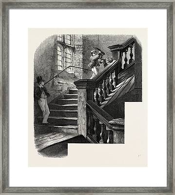 Eton, Staircase To The Upper School, Uk, Britain Framed Print by English School