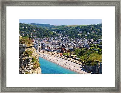 Etretat Beach Framed Print