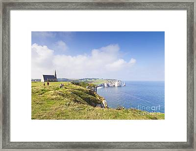 Etretat Framed Print by Colin and Linda McKie