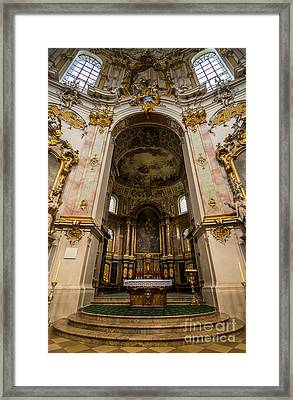 Ettal Abbey - Benedictine Monastery - Germany Framed Print by Gary Whitton