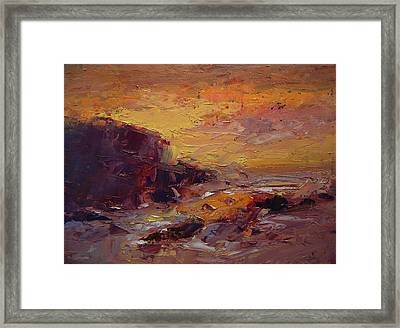 Etude Spooner's Cove At Sunset Framed Print by R W Goetting